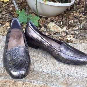 New! Clark's Bronze Crocodile Loafer- Size 7